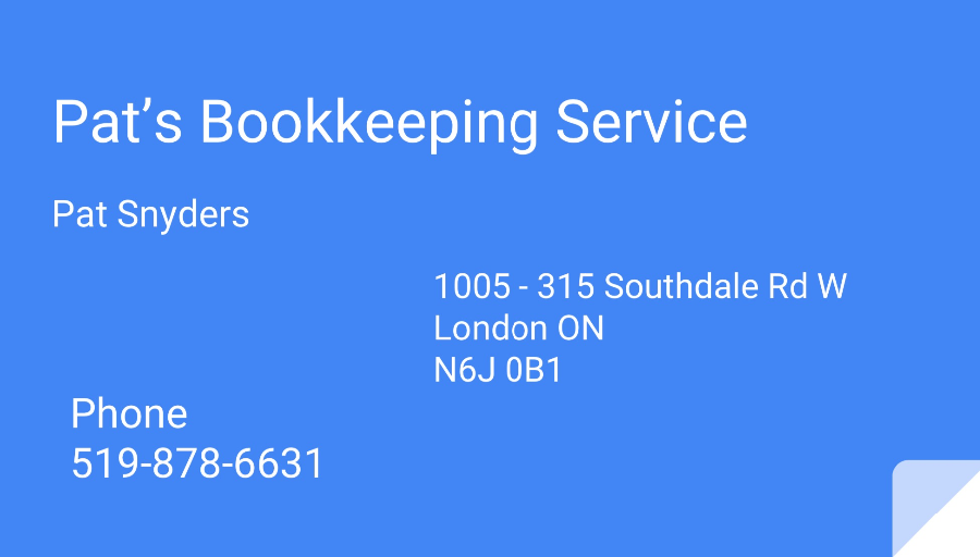 Pat's Bookkeeping Service